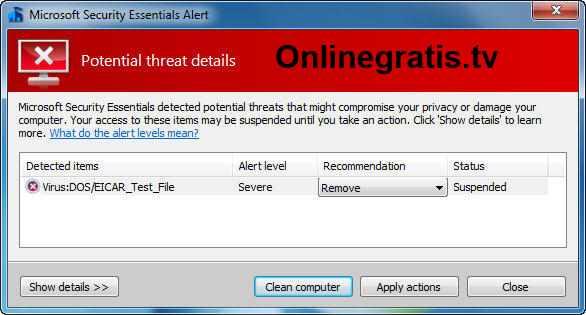 Test de antivirus