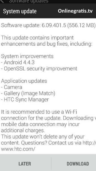 Update HTC One M7