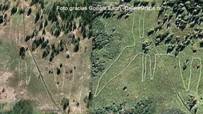 Rusia geoglifo ciervo antiguo