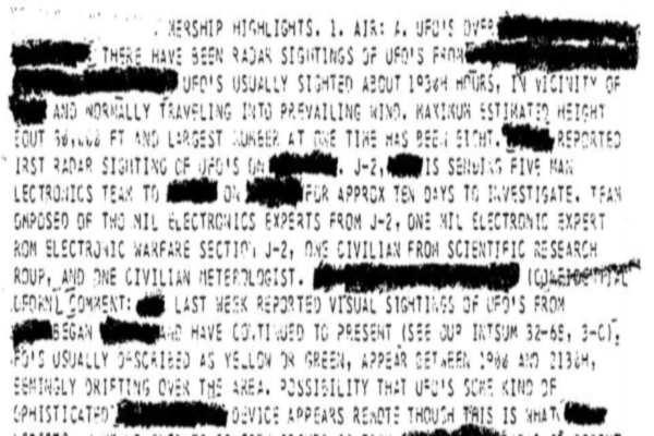 Desclasificacion de archivos ovni